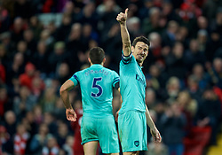 LIVERPOOL, ENGLAND - Saturday, December 29, 2018: Arsenal's captain Laurent Koscielny during the FA Premier League match between Liverpool FC and Arsenal FC at Anfield. (Pic by David Rawcliffe/Propaganda)