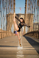 Dance As Art The New York Photography Project Brooklyn Bridge series with dancer Gabriela Vasquez