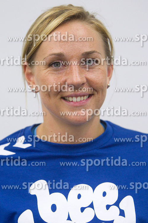 Kristine Bille Hansen   at press conference of handball club RK Krim Mercator before new season 2011/2012, on July 28, 2011, in SRC Stozice, Ljubljana, Slovenia. (Photo by Vid Ponikvar / Sportida)