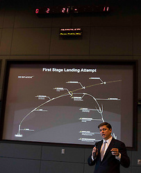 James Hughes discussing rocket launch and landing at NASA Kennedy Space Center.