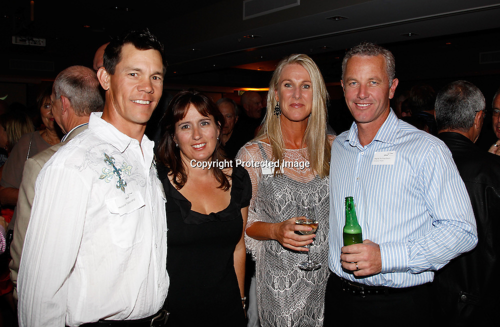 Phil and Melanie Tataurangi and Mary and Mark Richardsonduring the cocktail party for the New Zealand Pro - Am championships at The Hilton, Queenstown, New Zealand. Friday, 30 March 2012. Photo: Michael Thomas/ photosport.co.nz