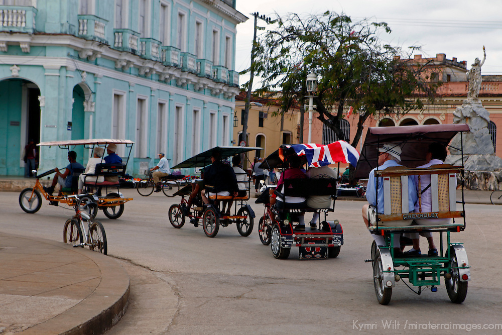 Central America, Cuba, Remedios. Bici-Taxis of Remedios.