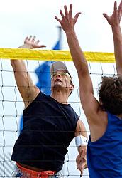 18-062005 BEACHVOLLEYBAL: NESSELANDE TOERNOOI: ROTTERDAM<br /> De zeer zonnige derde ronde van de Eredivisie Beach Volleyball op het strand aan de Zevenhuizerplas te Rotterdam-Nesselande leverde geen verrassingen op / <br /> Richard de Kogel<br /> ©2005-WWW.FOTOHOOGENDOORN.NL