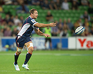 Scott Fuglistaller (Rebels) in action during the Round 9 match of the 2013 Super Rugby Championship between RaboDirect Rebels vs Southern Kings at AAMI Park, Melbourne, Victoria, Australia. 13/04/0213. Photo By Lucas Wroe