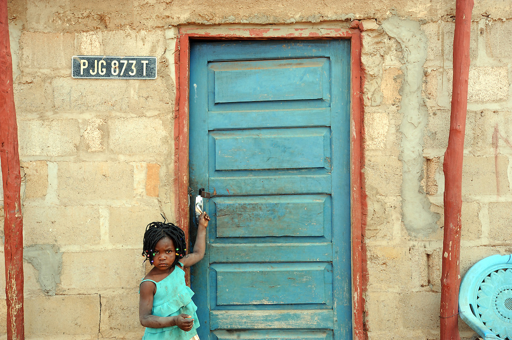 Izabel Francisco, the youngest of four orphans who's parents died from AIDS in Mozambique. 30th August 2008