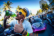 Gumball 3000 LA to Miami. The finishing line Miami. Pritchard from Dirty Sanchex