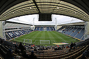 A general view of Deepdale Stadium before the EFL Sky Bet Championship match between Preston North End and Brighton and Hove Albion at Deepdale, Preston, England on 14 January 2017.