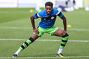 Forest Green Rovers Reece Brown(10) warming up during the EFL Sky Bet League 2 match between Forest Green Rovers and Accrington Stanley at the New Lawn, Forest Green, United Kingdom on 30 September 2017. Photo by Shane Healey.
