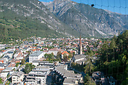 view of the city of Landeck from the Schloss Landeck (Landeck Castle and museum), Tyrol, Austria