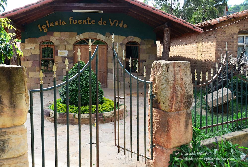"""Iglesia Fuente de Vida"" evangelical church in Samaipata, Bolivia"