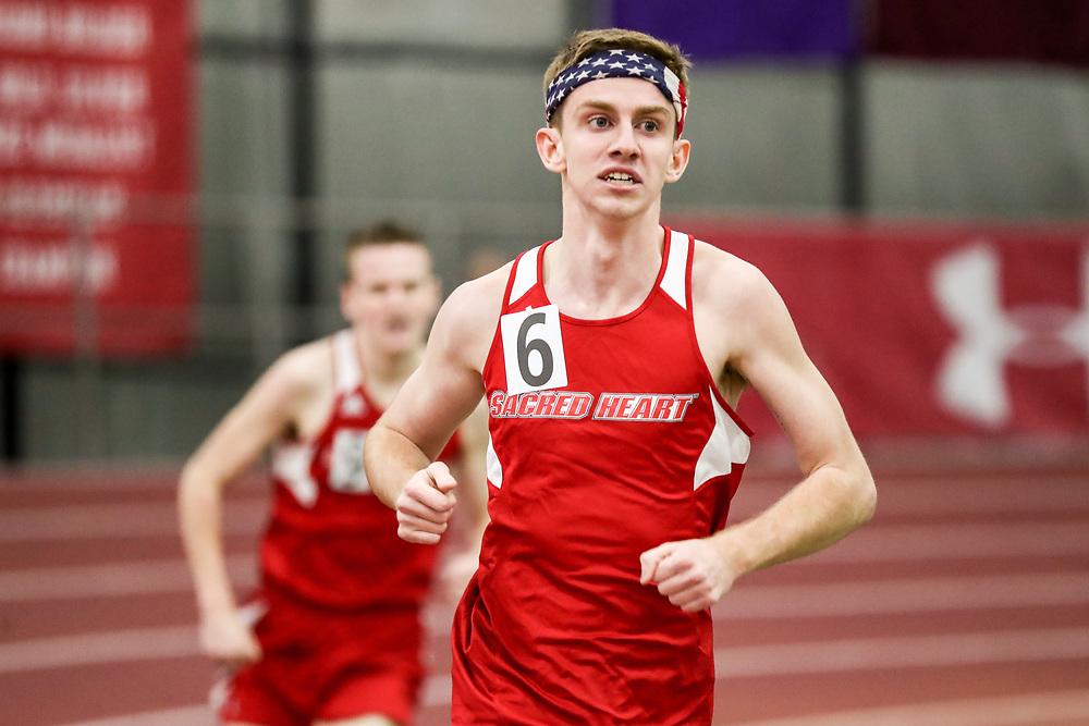 mens mile run, Sacred Heart<br /> Multi-team Meet<br /> Indoor Track & Field