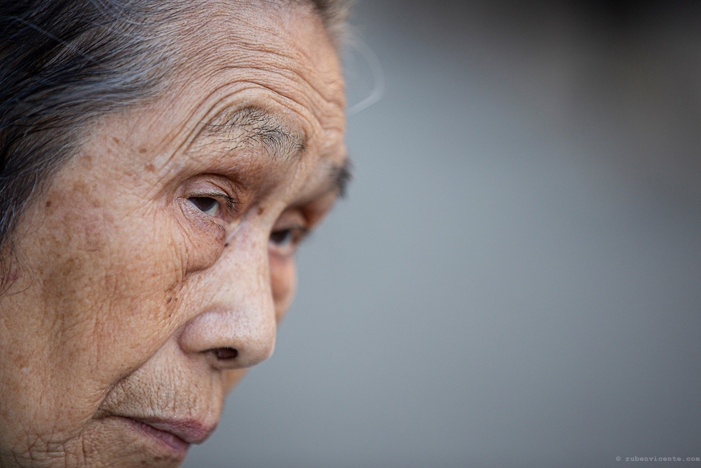 Old japanese lady. Kyoto, Japan
