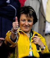 Southampton - Tuesday, September 30th, 2008: Chairman of Norwich City Delia Smithduring the Coca Cola Championship match at Southampton. (Pic by Daniel Hambury/Focus Images)
