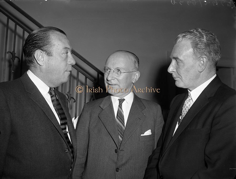 Robert Wagner, Mayor of New York, visits Glendalough, County Wicklow, 27/04/1958.