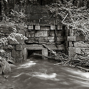 Sluice way, Bel Air Dam, West Branch Housatonic River
