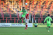 Forest Green Rovers Ethan Pinnock(16) during the Vanarama National League match between Wrexham FC and Forest Green Rovers at the Racecourse Ground, Wrexham, United Kingdom on 26 November 2016. Photo by Shane Healey.