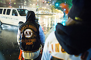 Baseball fans celebrate the Giants 9-0 win over the Cardinals during the NLCS Game 7 between the San Francisco Giants and the St. Louis Cardinals on Oct. 22, 2012 in San Francisco, Calif.  The Giants go on to face the Detroit Tigers in the World Series.  Photo by Stan Olszewski/SOSKIphoto.