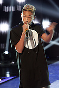 NEW YORK, NY- FEBRUARY 27: Actor/Recording Artist Jaden Smith performs at the 2013 BET Rip the Runway-Inside held at the Hammerstein Ballroom on February 26, 2013 in New York City. The annual music meets fashion show showcases new and upcoming Fashion Designers.(Terrence Jennings)