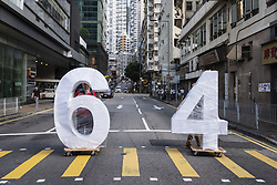 May 26, 2019 - Hong Kong, China - Protesters move giant numbers as pro-democracy activists stage a protest commemorating the 30th anniversary of the 1989 Tiananmen Square crackdown, known as the June Fourth incident or Six Four, where demonstrators were massacred by the military. (Credit Image: © Chan Long Hei/SOPA Images via ZUMA Wire)