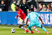 ALKMAAR - 22-04-2017, AZ - FC Twente, AFAS Stadion, AZ speler Ridgeciano Haps, FC Twente speler Yaw Yeboah