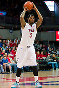 DALLAS, TX - JANUARY 21: Markus Kennedy #5 of the SMU Mustangs brings the ball up court against the Rutgers Scarlet Knights on January 21, 2014 at Moody Coliseum in Dallas, Texas.  (Photo by Cooper Neill/Getty Images) *** Local Caption *** Markus Kennedy