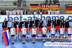 Team of Russia during 21st Men's World Handball Championship preliminary Group C match between Algeria and Russia, on January 21, 2009, in Arena Varazdin, Varazdin, Croatia. (Photo by Vid Ponikvar / Sportida)