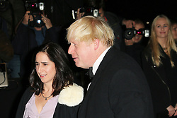 © Licensed to London News Pictures. Boris Johnson and his wife Marina Wheeler attending the London Evening Standard Theatre Awards at the The Savoy Hotel in London, UK on 17 November 2013. Photo credit: Richard Goldschmidt/PiQtured/LNP