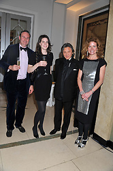 Left to right, WILLIAM CASH, LADY LAURA CATHCART, LEON MAX and ERIN MORRIS at a dinner and dance hosted by Leon Max for the charity Too Many Women in support of Breakthrough Breast Cancer held at Claridges, Brook Street, London on 1st December 2011.
