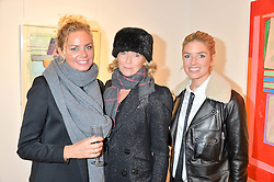 Left to right, ALEXIS HARGREAVES, VANESSA ANSTRUTHER-GOUGH-CALTHORPE and ISABELLA BRANSON at a private view entitled Stop Making Sense featuring work by Georgiana Anstruther and Carol Corell held at Lacey Contemporary, 8 Clarendon Cross, London on 9th March 2016.