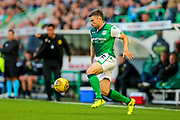 Lewis Stevenson (#16) of Hibernian controls the ball during the Europa League match between Hibernian and NSÍ Runavik at Easter Road, Edinburgh, Scotland on 12 July 2018. Picture by Craig Doyle.