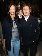 PARIS, FRANCE - MARCH 07:  Nancy Shevell and Sir Paul McCartney attend the Stella McCartney Ready to Wear Autumn/Winter 2011/2012 show during Paris Fashion Week Opera Garnier on March 7, 2011 in Paris, France.  (Photo by Tony Barson/WireImage)