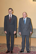 120318 King Felipe VI and King Juan Carlos attended an audience with Advisory Council of the Cortes