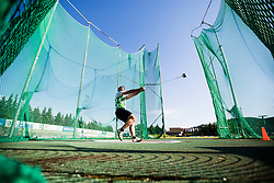 Nejc Plesko competes in Men's hammer throw during day one of the 2020 Slovenian Cup in ZAK Stadium on July 4, 2020 in Ljubljana, Slovenia. Photo by Grega Valancic / Sportida