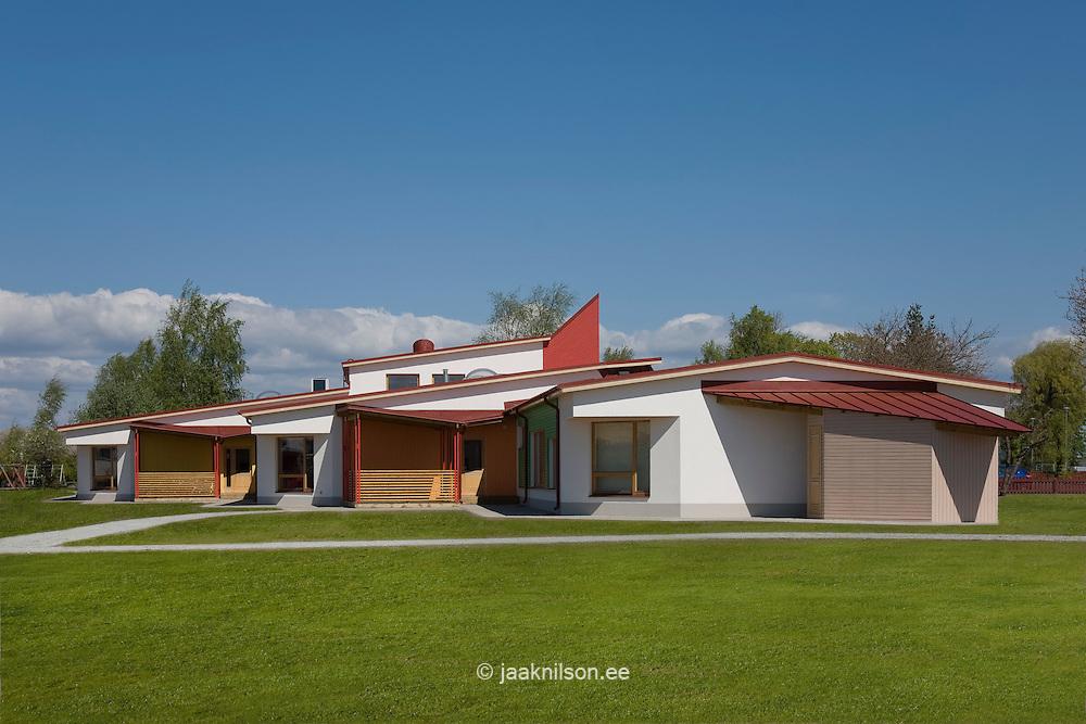 Jänesselja kindergarten in Pärnu County, Estonia.