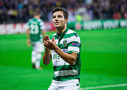 Cédric Doubtful of Sporting after the football match between NK Maribor and Sporting Lisbon (POR) in Group G of Group Stage of UEFA Champions League 2014/15, on September 17, 2014 in Stadium Ljudski vrt, Maribor, Slovenia. Photo by Vid Ponikvar  / Sportida.com