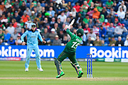 Mushfiqur Rahim (wk) of Bangladesh plays a ramp shot during the ICC Cricket World Cup 2019 match between England and Bangladesh the Cardiff Wales Stadium at Sophia Gardens, Cardiff, Wales on 8 June 2019.