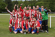 DC Athletic celebrate after winning thePremier Division  - Dundee Saturday Morning FA - Super Saturday at Dundee UNI<br /> <br />  - &copy; David Young - www.davidyoungphoto.co.uk - email: davidyoungphoto@gmail.com