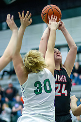 23 January 2020: Fisher Bunnies v Eureka Hornets girls during the 109th 2020 McLean County Tournament at Shirk Center in Bloomington IL<br /> <br /> Photo by Alan Look