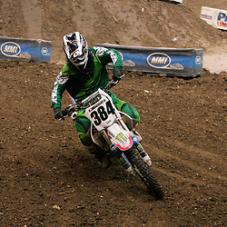 14 March 2009: Carl Schlacht (384) rides in a qualifying heat during the Monster Energy AMA Supercross race at the Louisiana Superdome in New Orleans, Louisiana