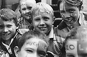 Kids with Chelsea FC face paint, Wembley, London 2000