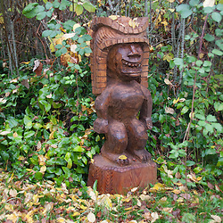 Hawaiian Totem, Russell Island, Gulf Islands National Park Reserve, British Columbia, Canada