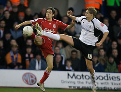 LUTON, ENGLAND - Sunday, January 6, 2008: Liverpool's Yossi Benayoun and Luton Town's David Edwards during the FA Cup 3rd Round match at Keniworth Road. (Photo by David Rawcliffe/Propaganda)