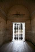 door gate in ancient building