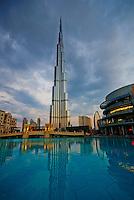 Emirats Arabes Unis, Dubai, la tour Burj Khalifa haute de 828m // United Arab Emirates, Dubai, Burj Khalifa tower, 828m high