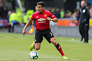 Manchester United forward Alexis Sanchez (7) in action during the Premier League match between Huddersfield Town and Manchester United at the John Smiths Stadium, Huddersfield, England on 5 May 2019.