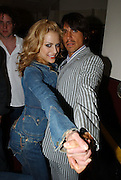Brittany Murphy and Anthony Kiedis backstage at the 2002 MTV Video Music Awards at Radio City Music Hall in New York City,  August 29, 2002.  Photo by Frank Micelotta/Getty Images.
