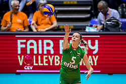 26-08-2017 NED: World Qualifications Bulgaria - Netherlands, Rotterdam<br /> De Nederlandse volleybalsters hebben in Rotterdam het kwalificatietoernooi voor het WK van volgend jaar in Japan ongeslagen afgesloten. Oranje was in z'n laatste wedstrijd met 3-0 te sterk voor Bulgarije: 25-21, 25-17, 25-23. / Dobriana Rabadzhieva #5 of Bulgaria