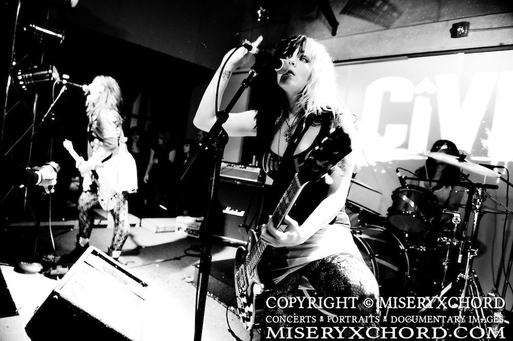 Civet performs at The Vault in Temecula, California USA on April 3, 2010