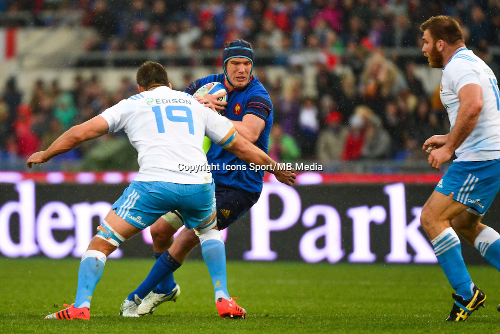 Bernard LE ROUX / Quintin GELDENHUYS - 15.03.2015 - Rugby - Italie / France - Tournoi des VI Nations -Rome<br /> Photo : David Winter / Icon Sport