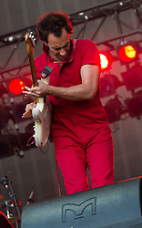 © Licensed to London News Pictures. 18/06/2015. London, UK.   The Strokes performing live at Hyde Park.   In this picture - Albert Hammond Jr.  Photo credit : Richard Isaac/LNP